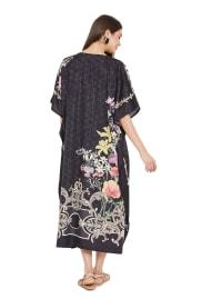 Long Kaftan Summer Maxi Dress - Plus - Back