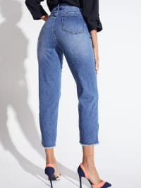 Westport Signature 5 Pocket Skinny Ankle Jean With Snap Button At Ankle - Back