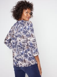 Roz & Ali Diamond Stitch Tie Dye Popover - Back