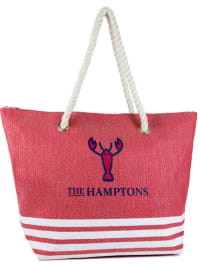 The Hamptons Striped Straw Beach Tote - Back