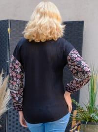Westport Mix Media Thermal Knit Top - Back