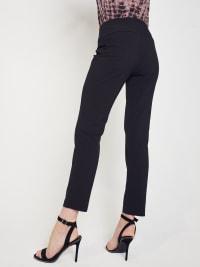 Roz & Ali Secret Agent Slim Leg Wide Waistband Pants - Petite - Back