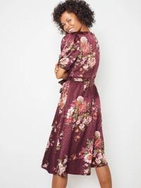 Deb Floral Pebble Jacquard Dress - Back