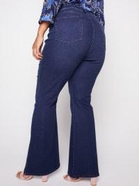 Westport Signature 5 Pocket High Rise Modern Flare Leg Jean - Plus - Back
