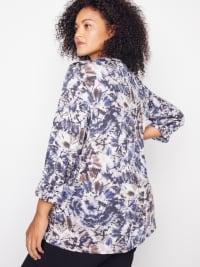 Roz & Ali Diamond Stitch Tie Dye Popover - Plus - Back