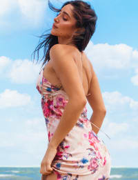 Sukiso Women's Floral Blush Slip Dress - Back
