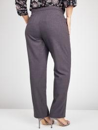 Roz & Ali Secret Agent Pants with Cat Eye Pockets & Zip - Plus - Back