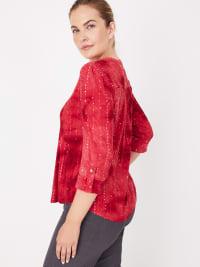 Roz &  Ali Red Sequin Tie Dye Popover - Back