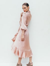 Sukiso Women's In Pink Emma Wrap Dress - Back