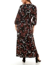 Adrienne Vittadini 3/4 Sleeve Maxi Dress - Back