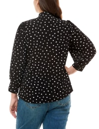 Adrienne Vittadini With Bow Tie Top - Back