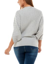 Adrienne Vittadini Dolman Sleeve With Keyhole Pullover - Back