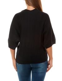 Adrienne Vittadini V-Neck Dolman Pullover - Back