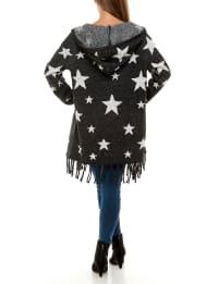 Adrienne Vittadini Long Sleeve Hooded Coatigan - Back