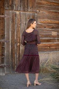 Maden Foulard Two Piece Skirt Set - Back