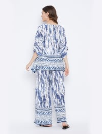 2-Piece Top and Pajama Rayon Co-Ord Set - Back