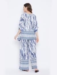 2-Piece Top and Pajama Rayon Co-Ord Set - Plus - Back