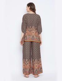 2-Piece Co-Ord with Adjustable Drawstring Rayon Set Pajama - Plus - Back