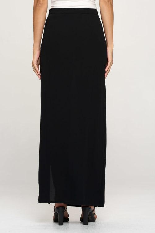 KAII High Slit Stud Skirt - Back