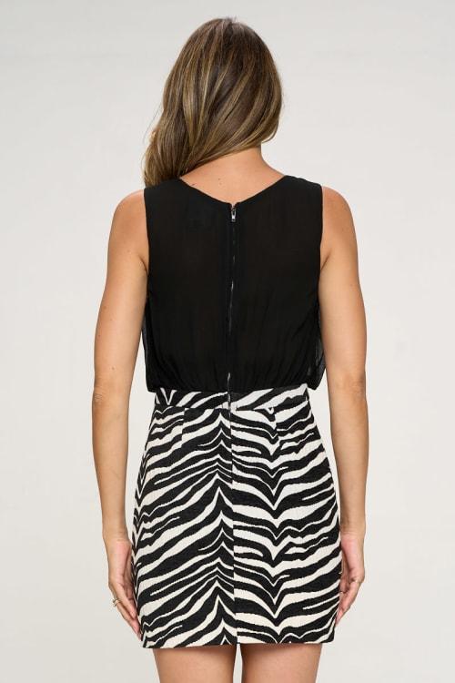 KAII Zebra Bottom Jacquard Dress - Back