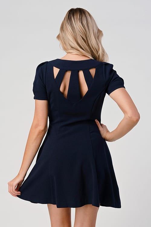 KAII Open Back Panel Princess Line Dress - Back