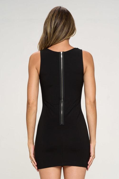 KAII Mandalian Detailed Bodycon Dress - Back