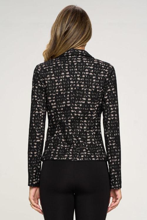 KAII Allover Stripe Lace Jacket - Back