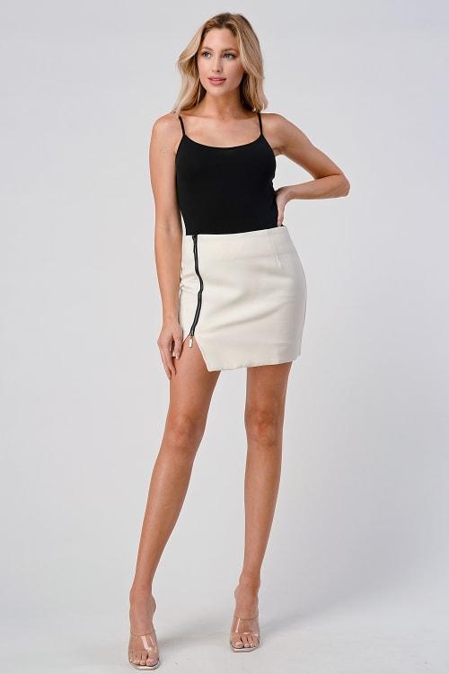 KAII Side Zipper Detail Mini Skirt - Back