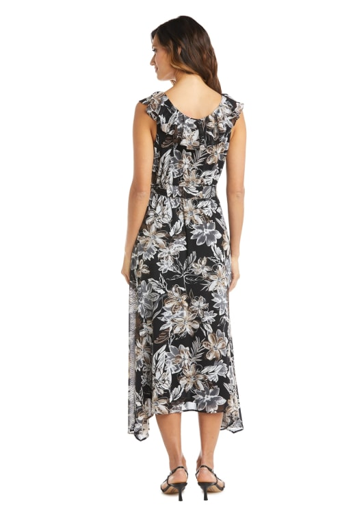 Ruffle High Low Daytime Dress - Back