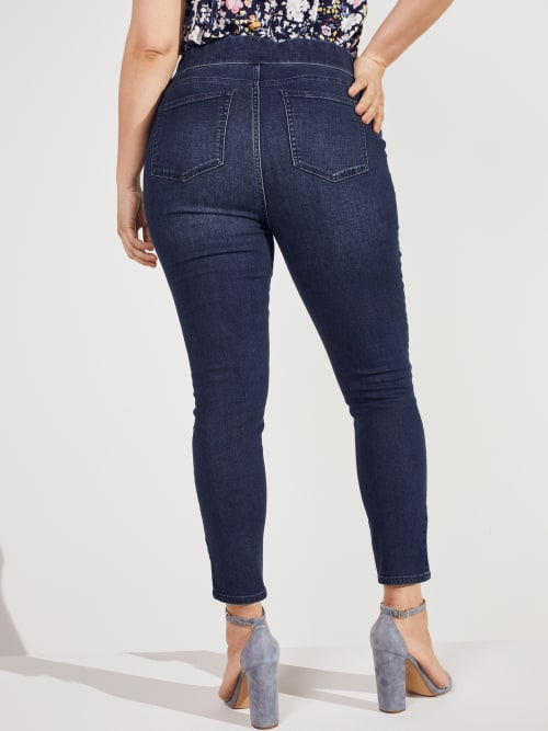 Westport Signature High Rise Pull On Jegging Jean - Plus - Back