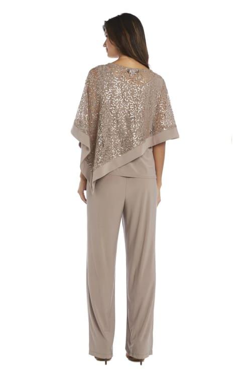 Lace Poncho Pant Set - Back