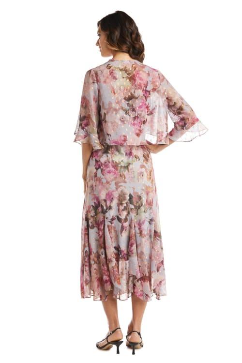 Rose Floral  Jacket Dress - Back