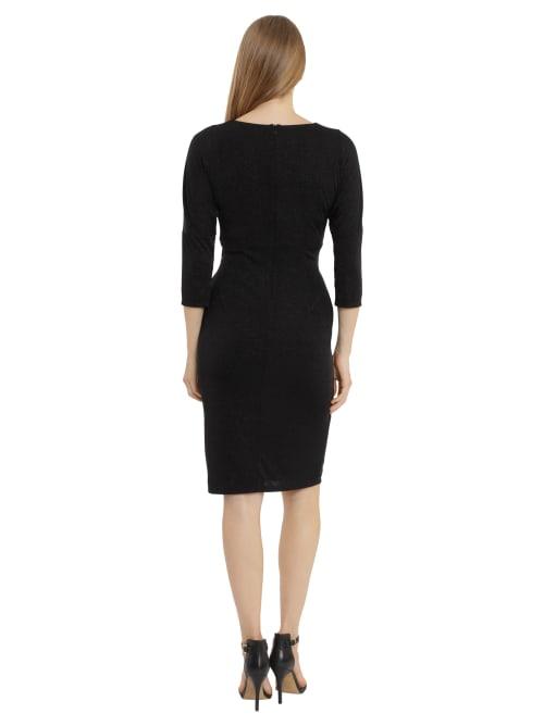 London Times Jess Dolman Sleeve Twist Front Dress - Back