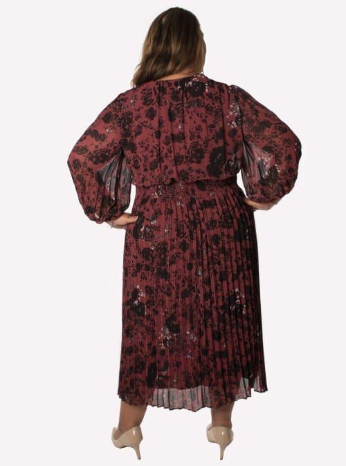 Taylor Floral Smocked Waist Dress - Plus - Back