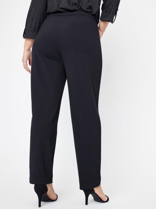 Roz & Ali Plus Secret Agent Pants with L Pockets - Tall Length - Plus - Back