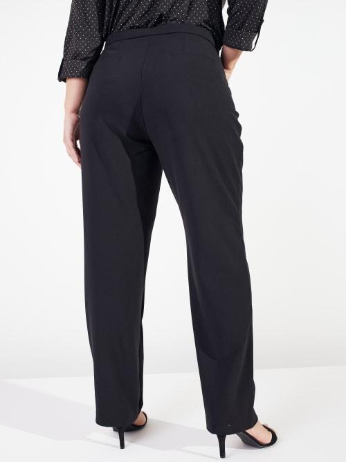 Roz & Ali Secret Agent Cateye Pockets Pants with Zipper - Short Length - Plus - Back