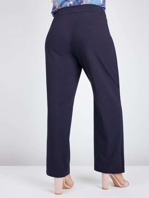 Roz & Ali Secret Agent Tummy Control Pants - Tall Length - Plus - Back