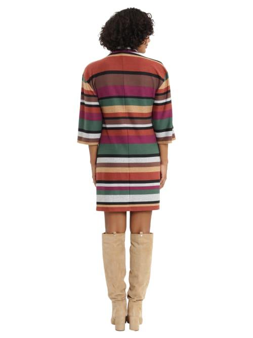 Extended Shoulder Turtleneck Dress - Back