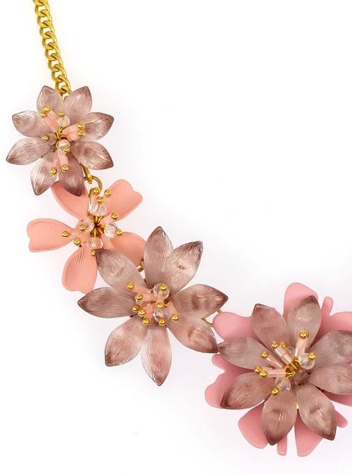 Carol Dauplaise 5 Part Flower Collar - Back