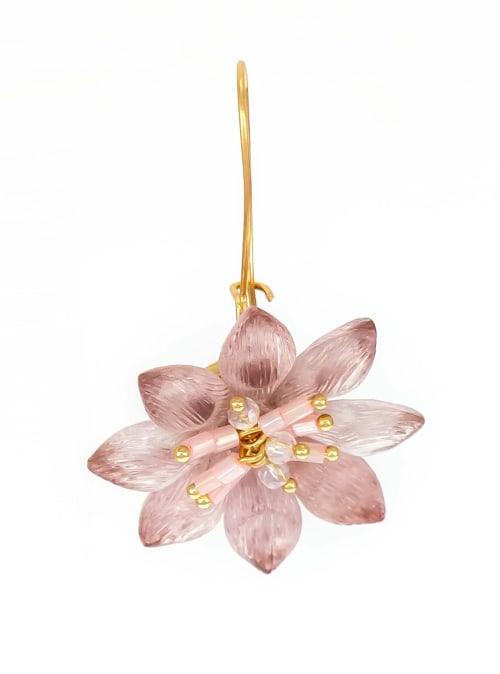 Carol Dauplaise Flower Earring - Back