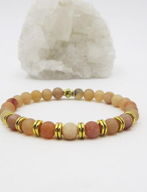 Jewels For Hope Champagne Druzy Stretch Bracelet - Back