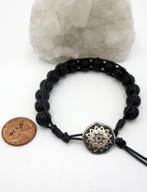 Jewels For Hope's Black Lava Stone Wrap Bracelet - As seen on Hallmark Star Will Kemp - Back