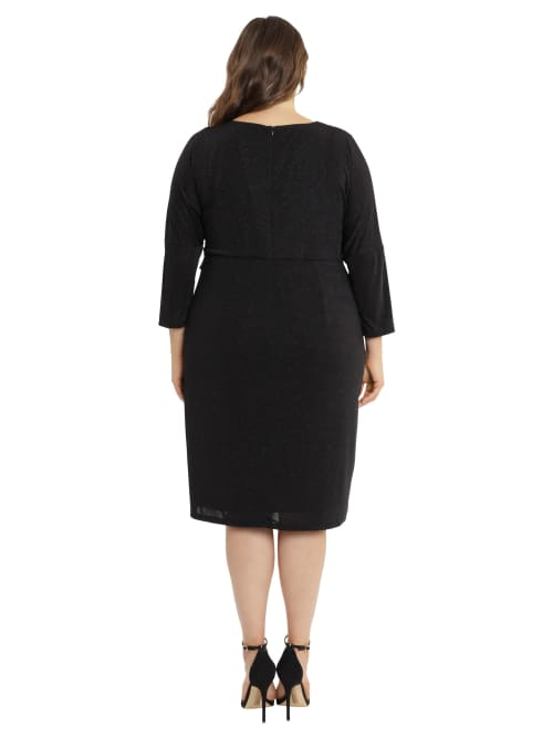 Jess Dolman Sleeve Twist Front Dress - Plus - Back