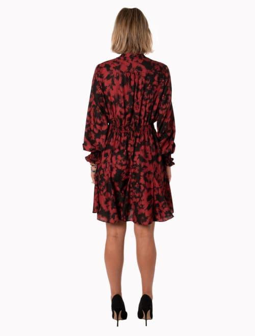 Taylor Blurred Floral Dress - Back