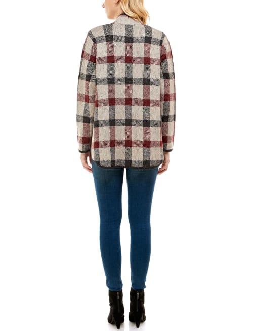 Adrienne Vittadini Sweater With Pocket Welts Shacket - Back