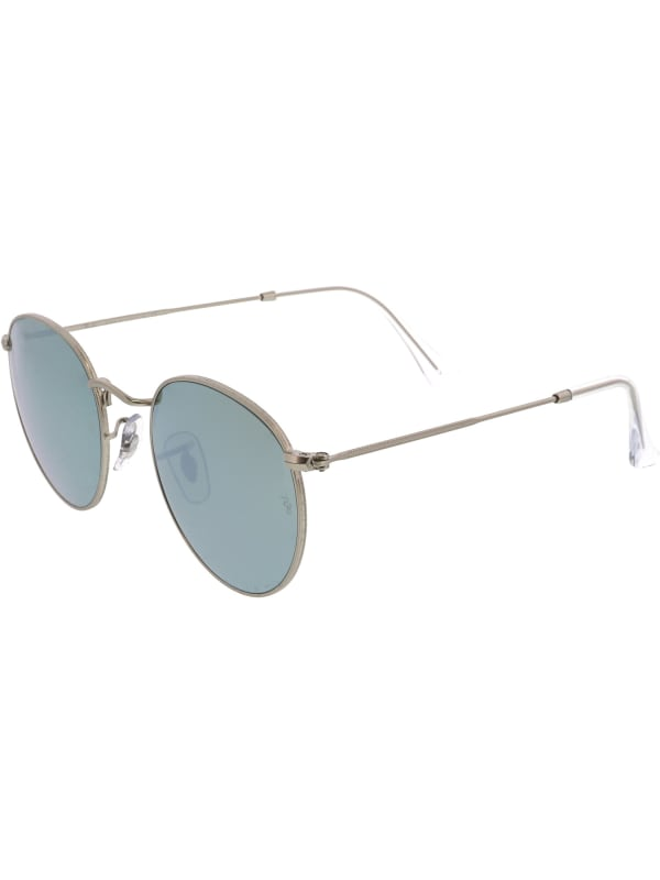 Ray-Ban Women's Mirrored Round Silver Sunglasses - Silver - Front
