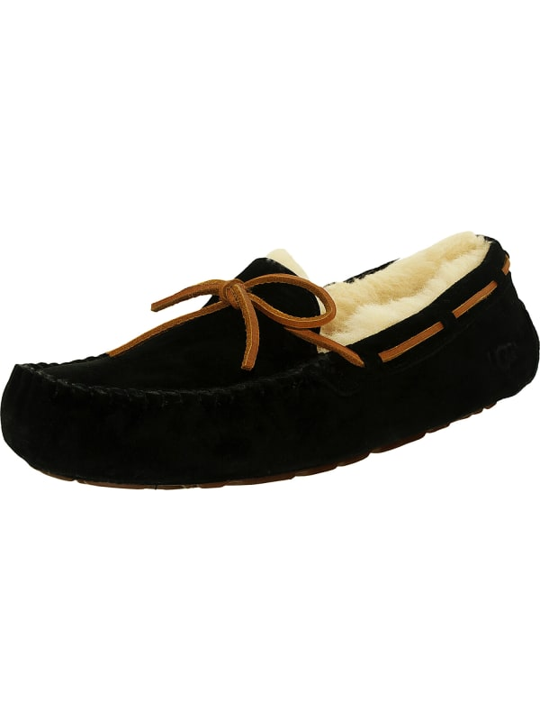Ugg Women's Dakota Leather Ankle-High Suede Slipper - Black - Front