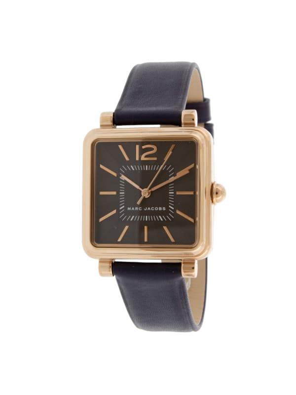 Marc Jacobs Women's Vic Rose-Gold Leather Quartz Fashion Watch