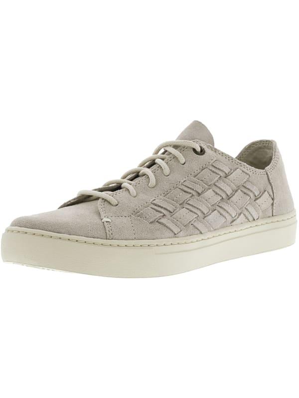 Toms Women's Lenox Suede Ankle-High Sneaker - Birch Basketweave - Front