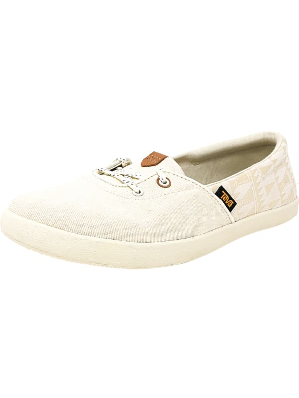 Teva Women's Willow Slip-On Ankle-High Canvas Shoes - White - Front
